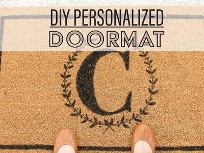 DIY Personalized Doormat. Tapete Personalizado