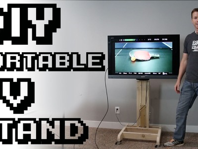 DIY Portable TV Stand