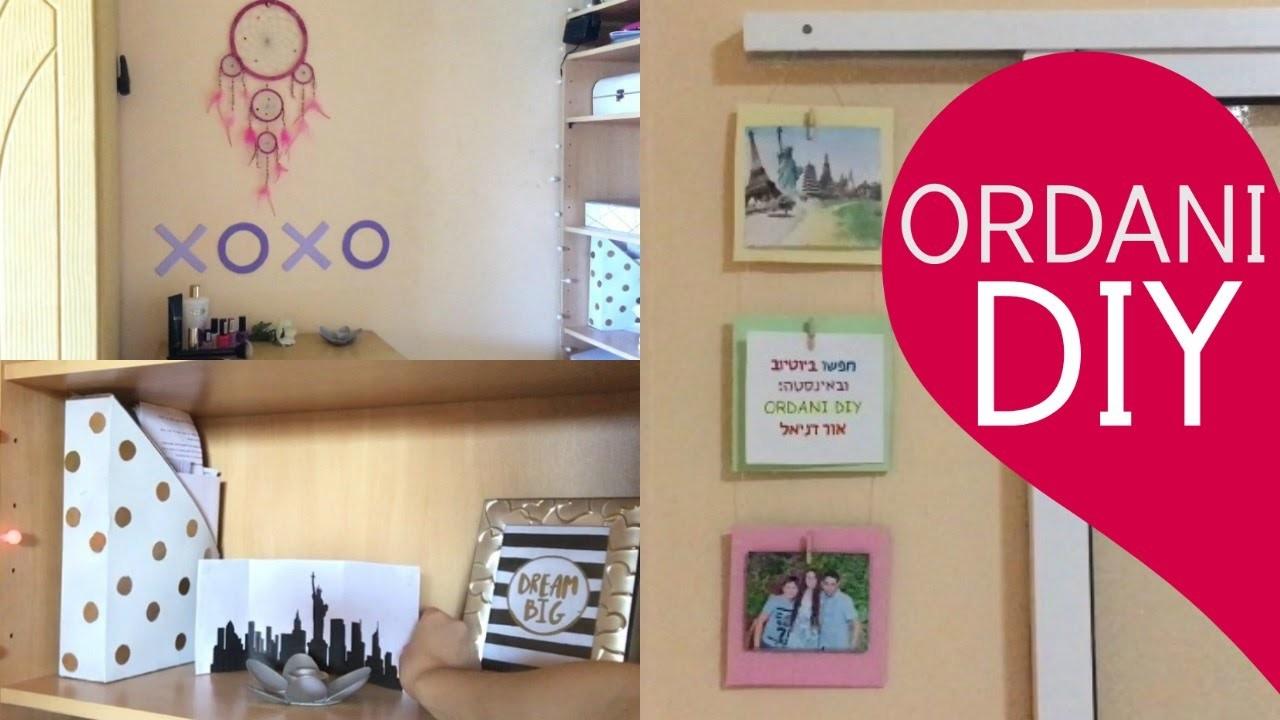 DIY ROOM DECOR: XOXO SIGN, New York STAND & PHOTOS WALL HOLDER! | ORDANI DIY
