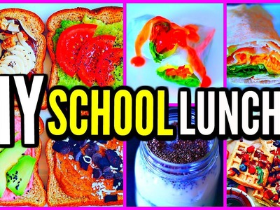 DIY School Lunch Ideas! Vegan, Healthy, Cheap, Easy! Back To School 2016-2017