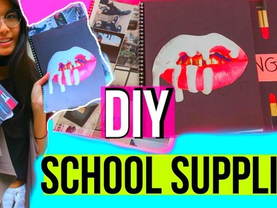DIY School Supplies + Notebooks for BACK TO SCHOOL 2016