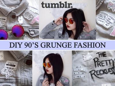 DIY Tumblr Fashion: 90's Grunge Denim Jacket