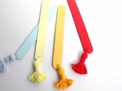 DIY tutorial how to make a tassel bookmark