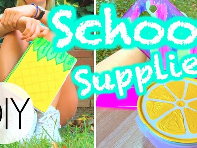 Easy DIY Back To School Supplies! [Notebooks, Binders, Phonecases & More]