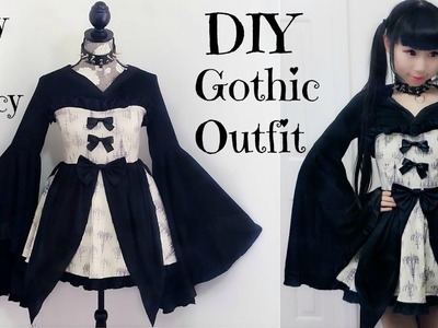 Easy DIY Gothic.Emo Inspired Outfit.Dress + Back to School Outfits Review