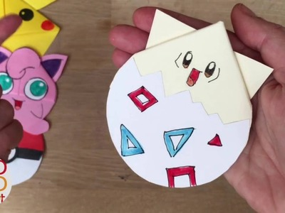 Easy Togepi DIY - Pokemon Bookmark - Origami inspired - Pokemon Go