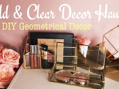Gold & Clear Mini Room Decor Haul + DIY Geometrical Decor