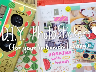✏️ Hobonichi With Me - 06.26.16 - Harajuku & DIY Photo Stickers Tutorial