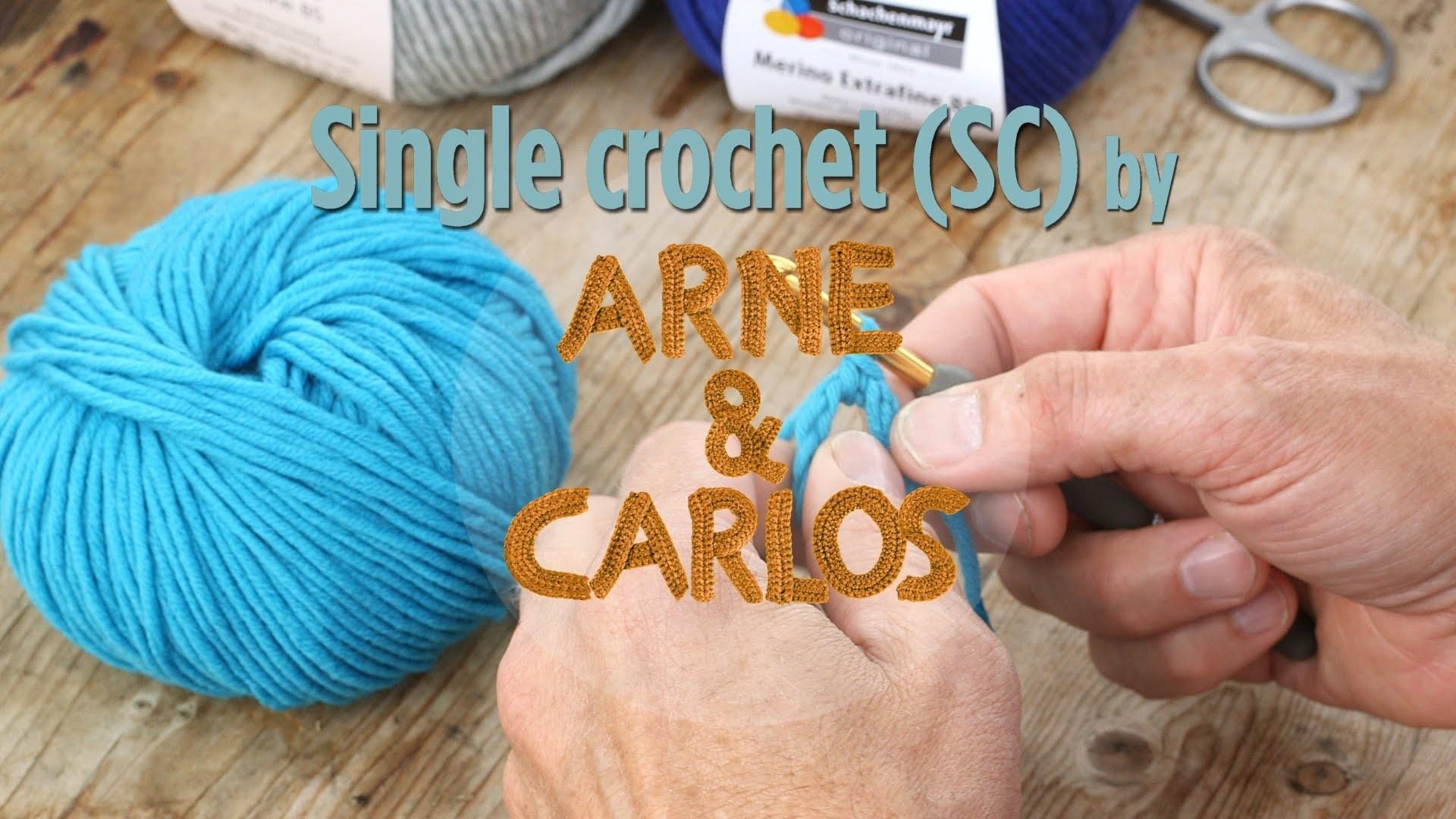 How to crochet - 3. Making a single crochet stitch - by ARNE&CARLOS