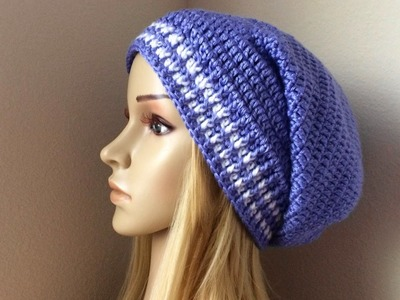 How To Crochet A Slouchy Hat, Lilu's Handmade Corner Video # 90