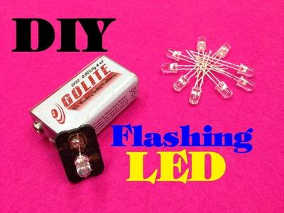How to make a flashing leds using 9v battery - DIY - Homemade - Tutorial
