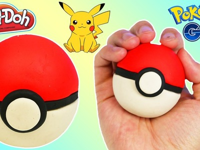 How to Make a PLAY DOH Pokeball Fun & Easy DIY Pokemon Go Edition Play Dough!