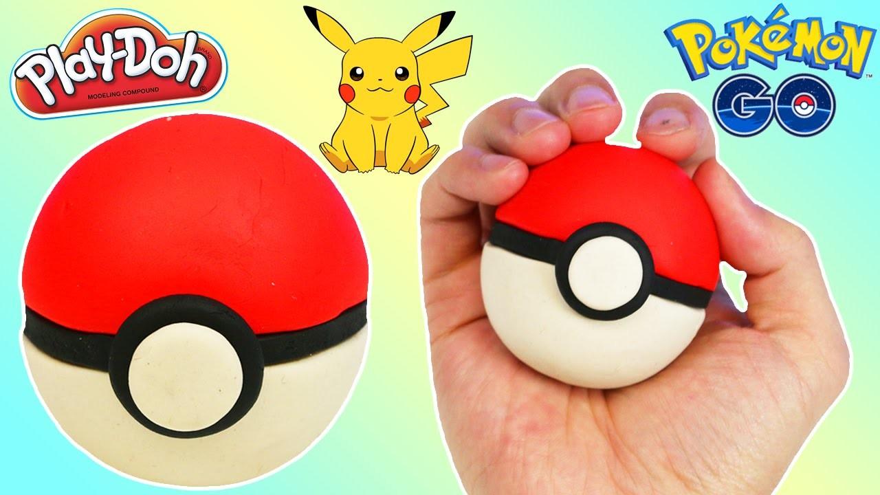 How to Make a PLAY DOH Pokeball Fun & Easy DIY Pokemon Go Edition Play Dough!