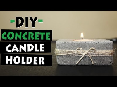 How To Make Concrete Candle Holder | Let's DIY