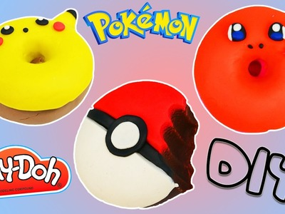 How to Make Play Doh POKEMON DONUTS Fun & Easy DIY Pikachu Charmander Pokeball Shapes!