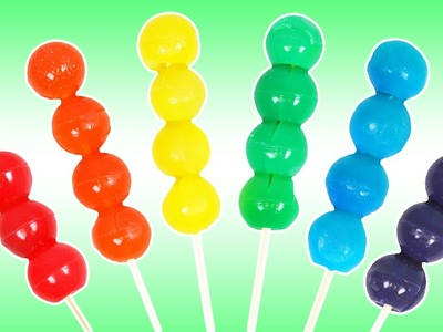LEARN COLORS How to Make Gummy Rainbow Skewers Fun & Easy DIY Jello Treats!