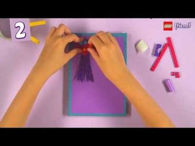 Lego Friends Crafts : How To Create Your Own Notebook