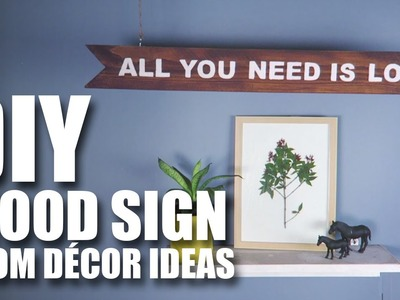 Mad Stuff With Rob - DIY Wood Sign | Room Decor Ideas