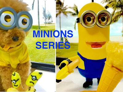 MINION DOG TREATS 4 PART SERIES - MINIONS CHARACTERS FROZEN DIY Dog Food by Cooking For Dogs