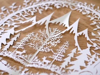 Paper Cutting: Sketching & Cutting Your Piece - Video 2 of Paper Cutting Series