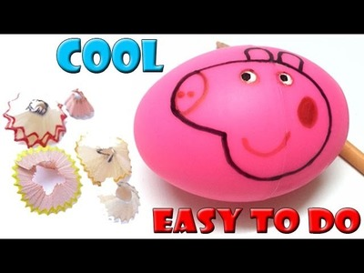 Peppa Pig - DIY Peppa Pig Pencil Sharpener | Easy to do | Beautiful & useful school supplies