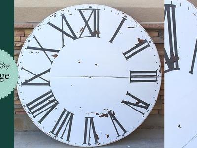 Salvage Table Top Clock DIY. Fixer Upper Inspired