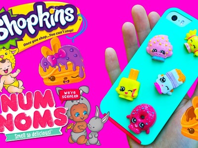 Shopkins DIY Back To School Phone Case Plus Twozies & Num Noms Series 2 Blind Bags