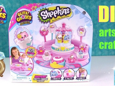 Shopkins Glitzi Globes Pretty Fashion Parade DIY Snow Globes Opening | PSToyReviews