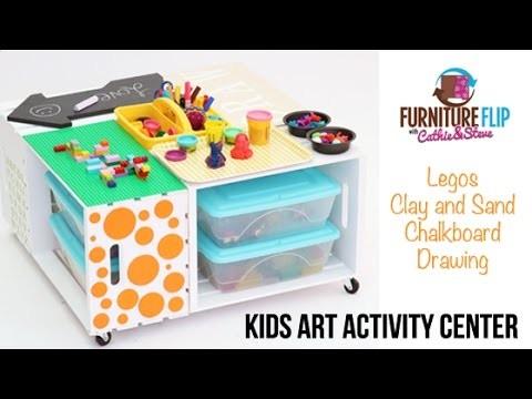 Super Easy DIY Kids Art Activity Center!