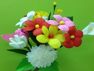 Top 3 paper flowers supper easy to make   Easy origami flower for beginner making   DIY-Paper Crafts
