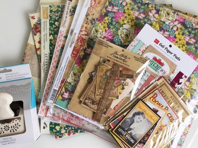 Vintage and Floral Paper Haul