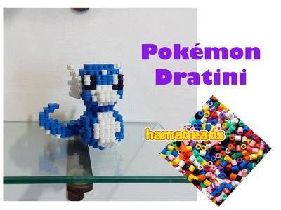 3D perler beads hama beads pyssla Pokemon Dratini assembly
