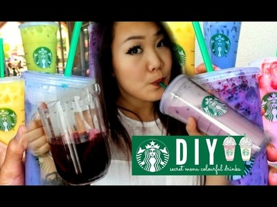 BARISTA TRIES TO DIY STARBUCKS COLOURFUL DRINKS | DIY Epic Win or Fail ???