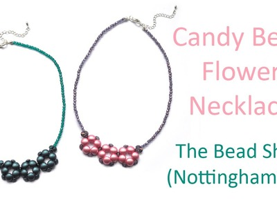 Candy Bead Flower Necklace : DIY