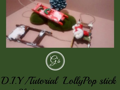 Christmas in July 2016 series: Lollypop Sled Tree ornament