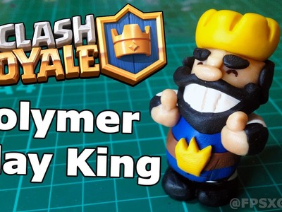 Clash Royale Polymer Clay King