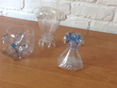 Creative ideas. DIY plastic bottles.Cups part.3