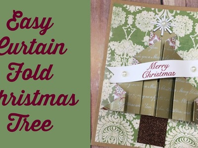 Curtain Fold Christmas Tree Card