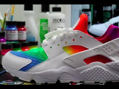 Custom Rainbow Huarache's