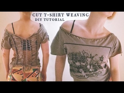 ✂️ Cut T-Shirt DIY Tutorial no-sew ★ t-shirt weaving t-shirt cutting