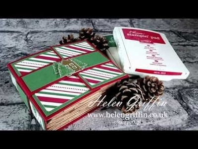 Day 4 -  Christmas In July - Christmas Mini Paperbag Album Tutorial