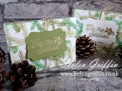 Day 5 - Christmas In July 2016 - Stampin' Up! 'Tis The Season Small Treat Box Tutorial
