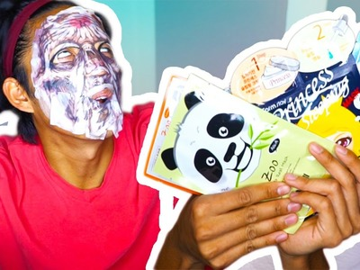 DIY 5 Layers Of Facemasks Super Awesome Animal and Princess Edition!!!!