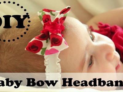 DIY Baby Bow Headband | How to make a no sew bow headband