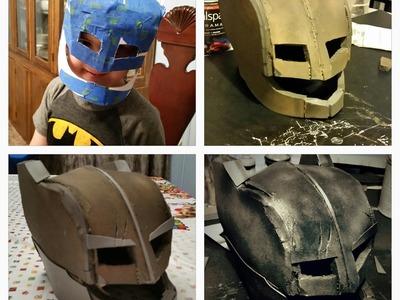 DIY Batman Armored Helmet. Mini Batman Armored Cosplay Part 1