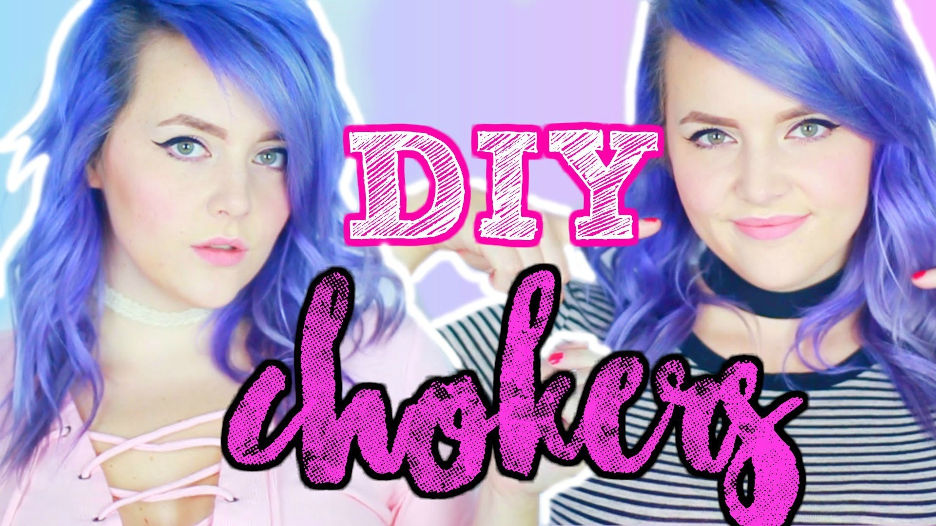 DIY Chokers! Made from Dollar Store Items!