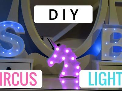 DIY CIRCUS LETTER LIGHTS * Room Decor Marquee Cheap * | SABILLIE
