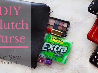 DIY Clutch Purse Tutorial | No Sew | How To Make