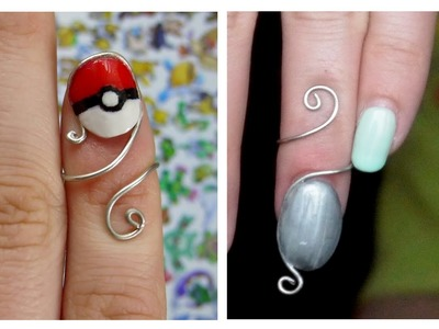 DIY Finger Nail Rings Using Polymer Clay