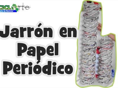 #DIY JARRON EN PAPEL DE REVISTA